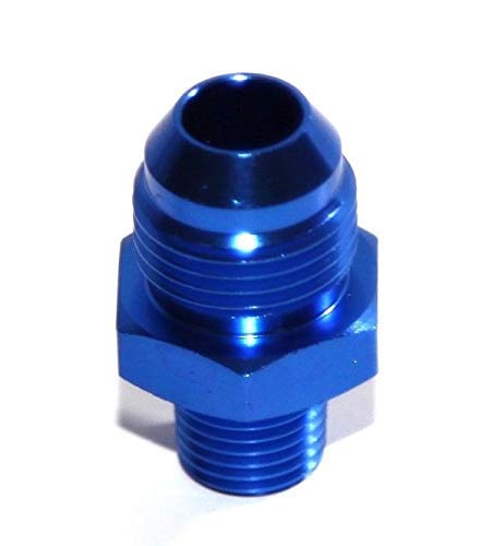 8AN AN-8 TO 1//4 NPT Male Thread Aluminum Anodized Fitting Adapter BLUE 1 One