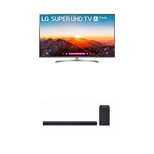 (LG Electronics 65SK8000PUA 65-Inch 4K Ultra HD Smart LED TV (2018 Model) Bundle with LG SK8Y 2.1 ch High Res Audio Sound Bar with Dolby Atmos (2018))