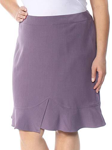 Tahari $69 Womens New 1069 Purple Below The Knee A-Line Casual Skirt 16 B+B