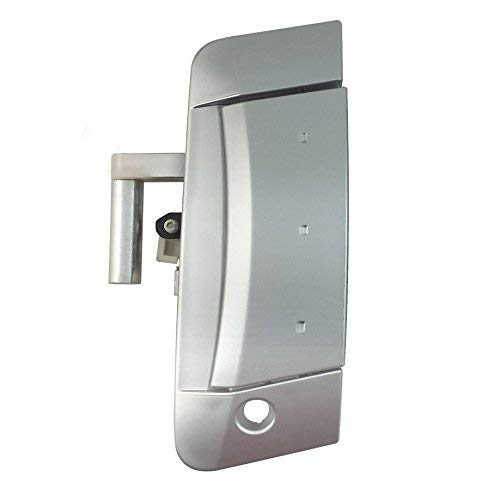 IAMAUTO 34725 Front Left Outside Exterior Outer Silver Door Handle for 2003 2004 2005 2006 2007 2008 2009 Nissan 350Z