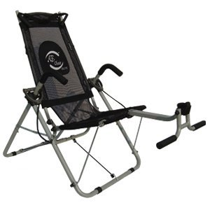 Ab Chair Elite - Black Mesh - Tighten and Tone Your Upper Abs, Obliques and Lower Abs ~ Ab Crunching Machine.