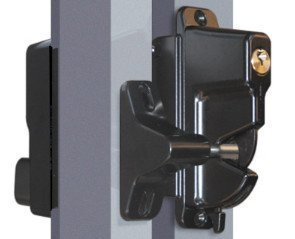 Keystone Black Zinc Diecast Metal Key Lockable Latch | 2-Sided | Keyed Alike | KLADV-M2-BK-KA