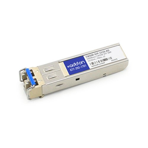 Image of Network Transceivers AddOncomputer.com Cisco CWDM-SFP-1510 Compatible 1000BASE-CWDM SFP