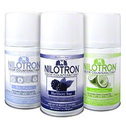 Nilodor Nilotron 7 oz. Metered Aerosol Dispenser Refill Cans - Spring Mint (12 Cans/Case)