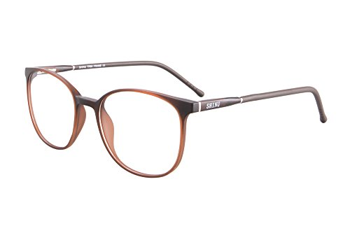SHINU TR90 Lightweight Frame Anti blue blocking Computer eyewear Reading Glasses-SH079(transparent brown, anti-blue - Glass Frames Lightweight
