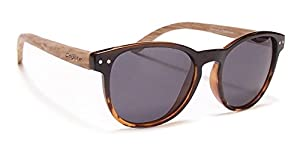 Coyote Eyewear Beachwood Polarized Sunglasses, Black Tortoise Fade, Gray, Medium/Large