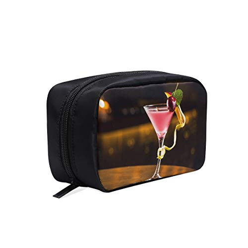 Party Colored Glass Cocktail Portable Travel Makeup Cosmetic Bags Organizer Multifunction Case Small Toiletry Bags For Women And Men Brushes Case