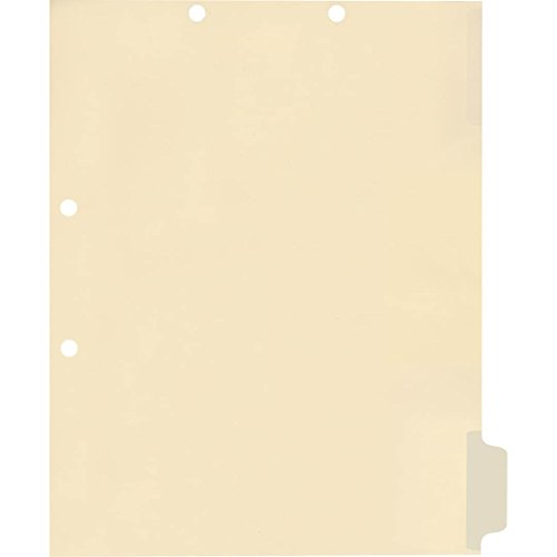 Medical Arts Press Match Write-On Side Tab Chart Dividers- Blank, Position 6 (100/Pkg) (56835)