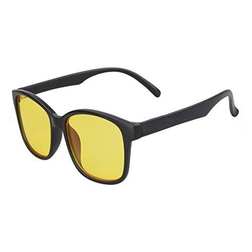817a5078e6 Deylaying Luz azul Filtrar Computadora Gafas Anti-UV Anti fatiga Retro  Lente clara Hombres/