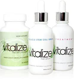 Amazon Com Vitalize Hair 3 Part Hair Regrowth System