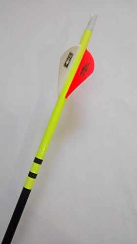 Traditional Crested Style Arrow Wraps for Carbon Shafts NEW COLORS! - Pack of 12 (Neon Yellow)