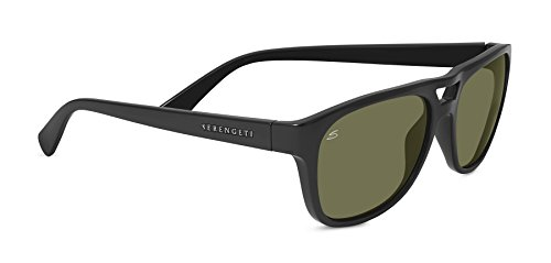 Serengeti 7954 Tommaso, Shiny Black Frame, Polarized 555nm Lens