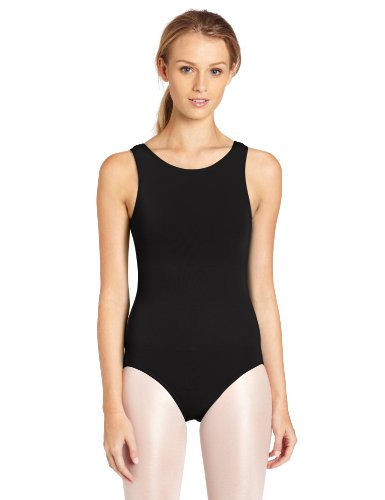 Capezio Women's High-Neck Tank Leotard,Black,X-Large