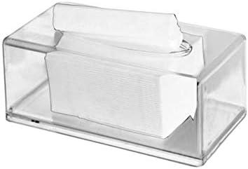 FTFSY Cubierta de Caja de pañuelos de Papel acrílico Transparente ...