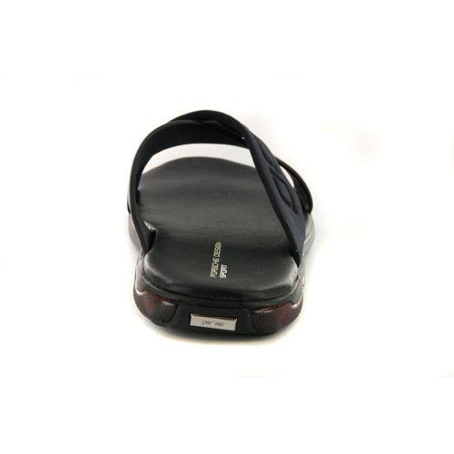 248218c1182a Mens Adidas Porsche Design Freestyle Black Leather Slide Sandals UK 11   Amazon.co.uk  Shoes   Bags