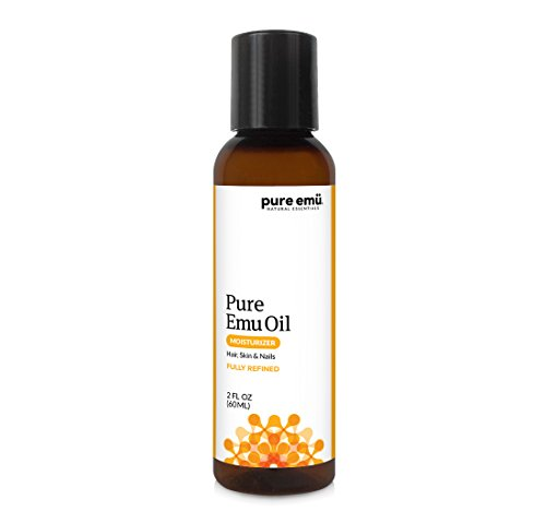 PURE EMU Emu Oil: Pure, Fully Refined Emu Oil For Hair, Skin & Nails | Natural, Safe & Hormone-Free | Clear, Odorless, and Highly Stable | Nature's Greatest Moisturizer, 2 fl oz