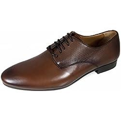 Zara Men Brown embossed leather shoes 5035/202 (41 EU | 8 US | 7 UK)