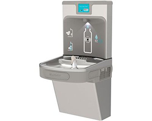 Elkay LZS8WSLP Filtered Enhanced EZH2O Bottle Filling Station with Single ADA Cooler, Light - Drinking Fountains Ada