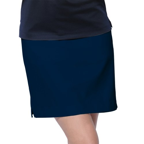 Monterey Club Ladies Classic Solid Twill Woven Skort #2866 (Navy, Size:10)