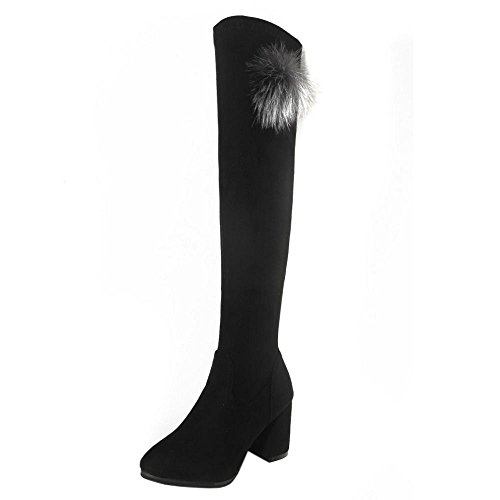 2 black Long Stylish Boots KemeKiss Women IxP8nB