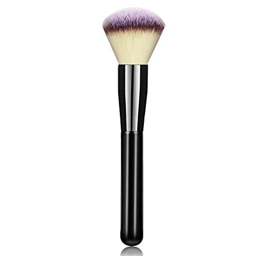 Foundation Makeup Powder Brush for Face, Hanamichi Makeup Brush Perfect for Blending Liquid, Cream or Flawless Powder Cosmetics - Buffing, Stippling, Concealer - Premium Quality