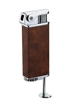 Vector KGM Rapid Dash Soft Flame Butane Pipe Lighter in Mahogany