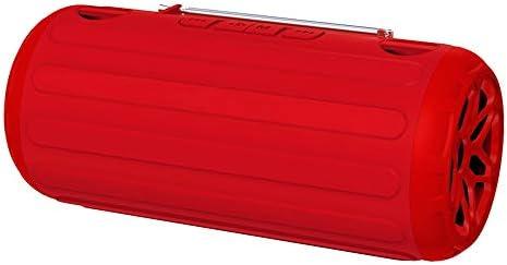 NDY ブルートゥーススピーカー、ポータブルワイヤレスヘビーベースホーン屋外充電4時間再生8時間IPX4防水再生動的な音楽揺れなし (Color : Red)