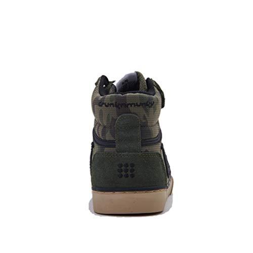 Verde Drunknmunky A Bambino Combat Camu Alto Sneaker Boston Collo 8wZ8Hq4