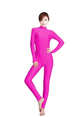 WOLF UNITARD Women's Unitard Lycra Bodysuit Dance Wear Medium Pink (Circus Dance Costumes)