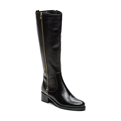 Alti For Boots Leather High Women Black Al Boots Boots Al Le Ginocchio High Alti Alti Zerimar Per Zerimar Leather Stivali Pelle Women Donne Women Donne Knee Ginocchio Donne Nera Pelle Stivali High Stivali Knee In EtwTSqd