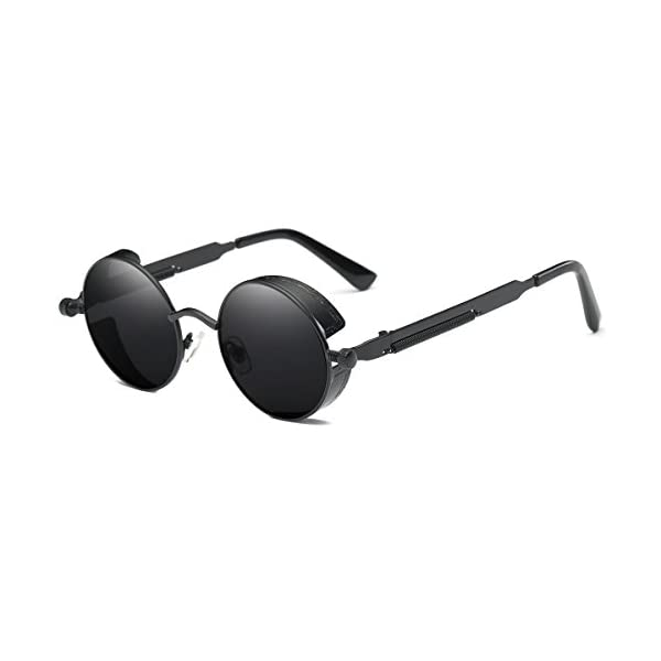 SamuRita Lennon Gothic Steampunk Sunglasses Black Yellow Tinted Shades 3