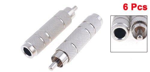 Amazon.com: eDealMax 6 piezas de RCA Macho a hembra DE 6,35 mm de Metal adaptador de Audio Convertir: Electronics