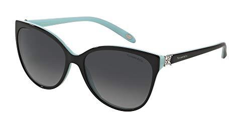 Tiffany & Co. TF4089B 8055T3 Black/blue Frame Color Polarized Grey Gradient Lens (Tiffany Victoria)