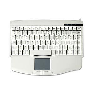 SolidTek Comfortable Compact Keyboard with Touchpad PS2