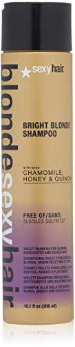 Brass Bed Warmer - SEXYHAIR Blonde Bright Blonde Violet Shampoo, 10.1 fl. oz.