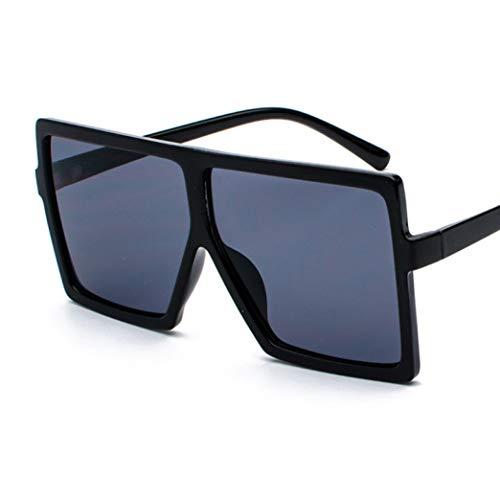 (Women Sunglasses Oversized Vintage Designer Gradient Lens Shades Sun Glasses Men Big Black Frame Glasses UV400)