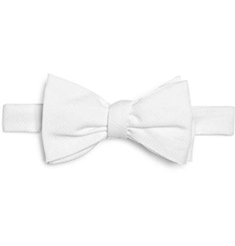 Velcro Bow Tie - StarDance White Piqué Marcella Cotton Pre-Tied Bow Tie (Large (16