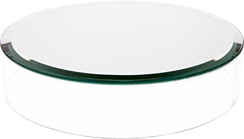 Plymor Brand Clear Acrylic Cylinder Display Riser w/Mirror Top, 2