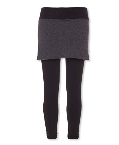 Soul Flower Women's Organic Skirted Leggings (XXL, Black)