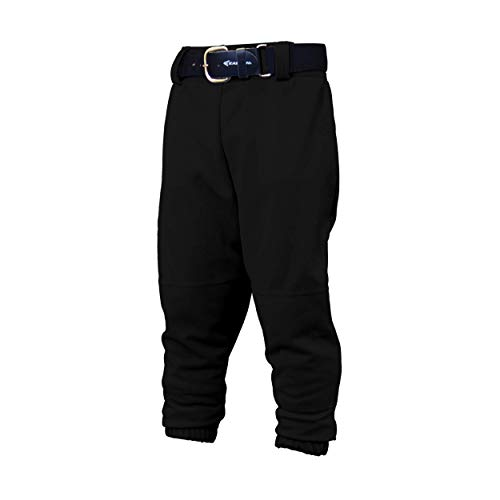 EASTON Youth PRO PULL UP Baseball Softball Pant | 2020 | Black | Youth X Small | Drawstring Waistband | Batting Glove Back Pocket | Elastic Bottom Opening | 100% Polyester (Pant 6 Pocket Youth)