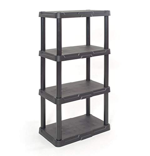 Solid Plastic Shelf - Pro-G Storage Organizing Shelf Durable Indoor Garage 4 Tier Solid Plastic Easy Clean Care