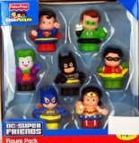 Fisher Price Little People DC Super Friends limited figure seven set Super Friends Exclusive Figure Pack of 7 parallel import goods