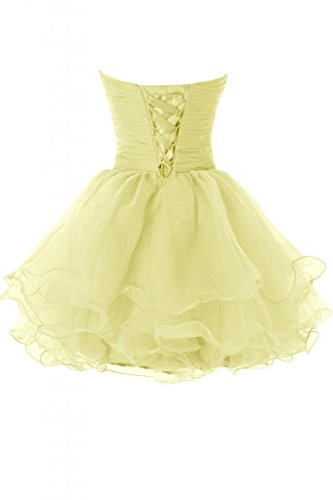 cocktail Short da Sweetheart organza Abito da sera vestito party Sunvary vestito Hot da 71qRnXxwH5
