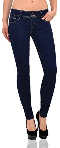 by-tex Jeans femme slim Jean femmes pantalon taille basse droit Jean pour femmes J57 Z62