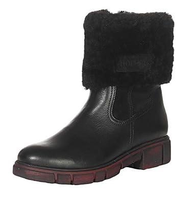 Hollert Femmes Peau de Mouton Bottines HT-400 Bottes Chaussures d hiver  Cuir Véritable 98c9fac19575