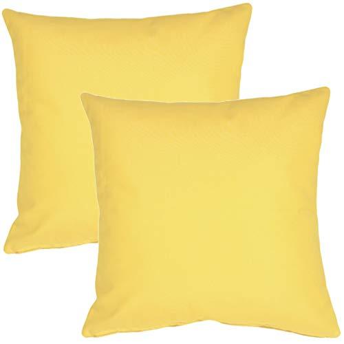 PILLOW DÉCOR Sunbrella Outdoor Pillow, Buttercup Yellow, 20