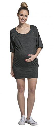Rotondo Tunica Vestito Pr Allattamento Donna Scollo Mini Mama Happy xqOn6tHw0H