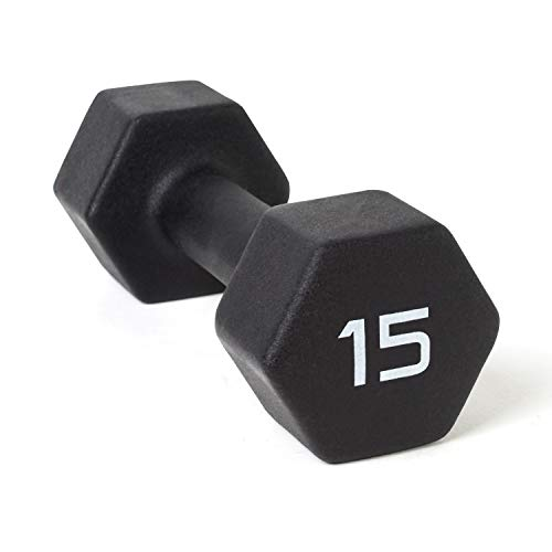 CAP Barbell Neoprene Coated Single Dumbbell, Black, 15-Pound ()