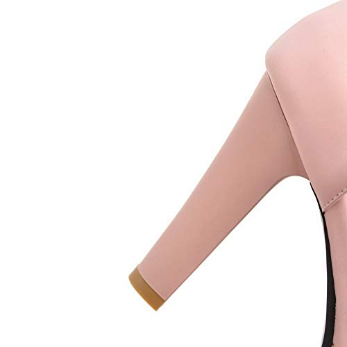 TSFLH007459 Rose Sandales Unie d'orteil à Talon Ouverture Couleur Haut Femme AalarDom qwvz7fI