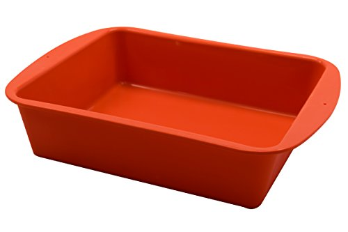 Marathon Premium Silicone Deep Dish Casserole Pan. Color-Orange. SKU-KW200015OR